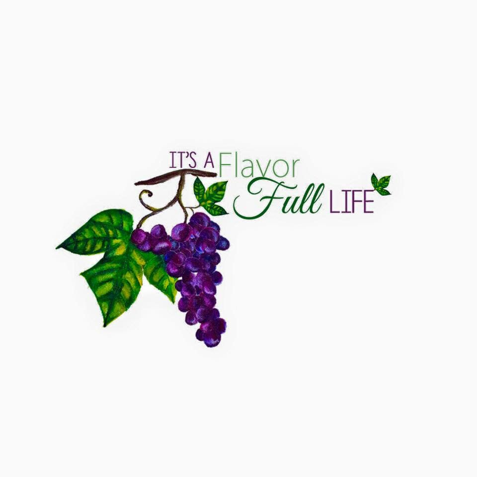 It's a Flavorful Life Health Coaching logo design (hand painted)