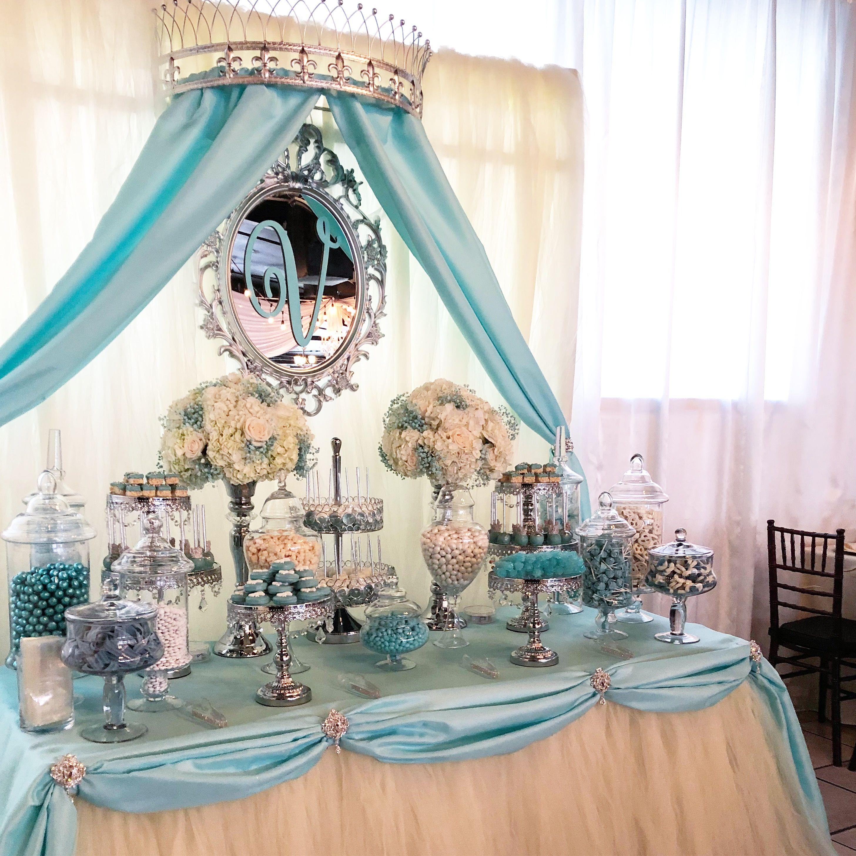 Royal Candy Buffet By Bizzie Bee Creations Cinderella Sweet 16 Cinderella Birthday Cake Baby Shower Dessert Table