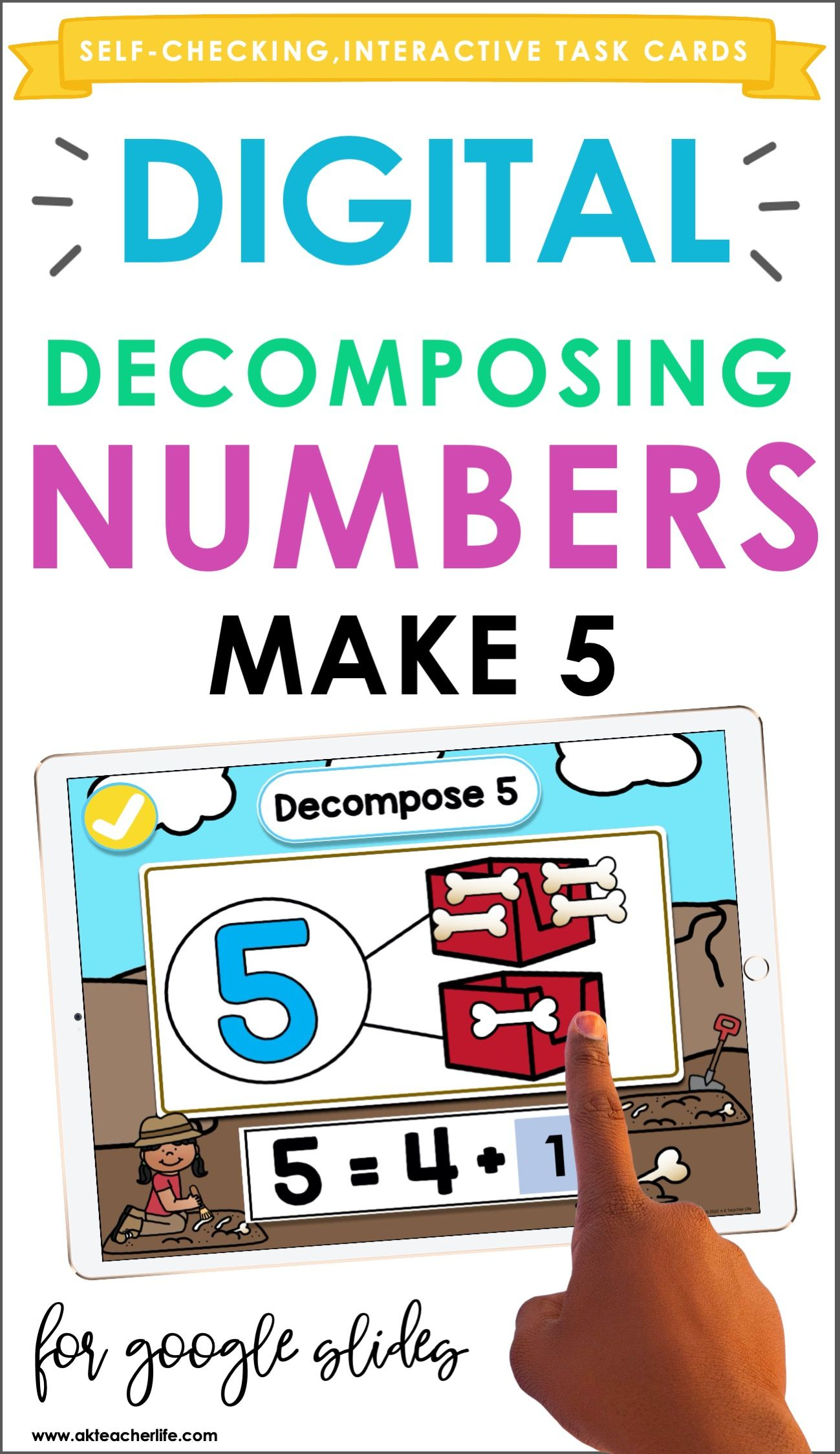 Decomposing Numbers 5 And 10 Activity In