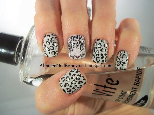 Leopard Nail Art Animal Print White Nails Art Pinterest Nail
