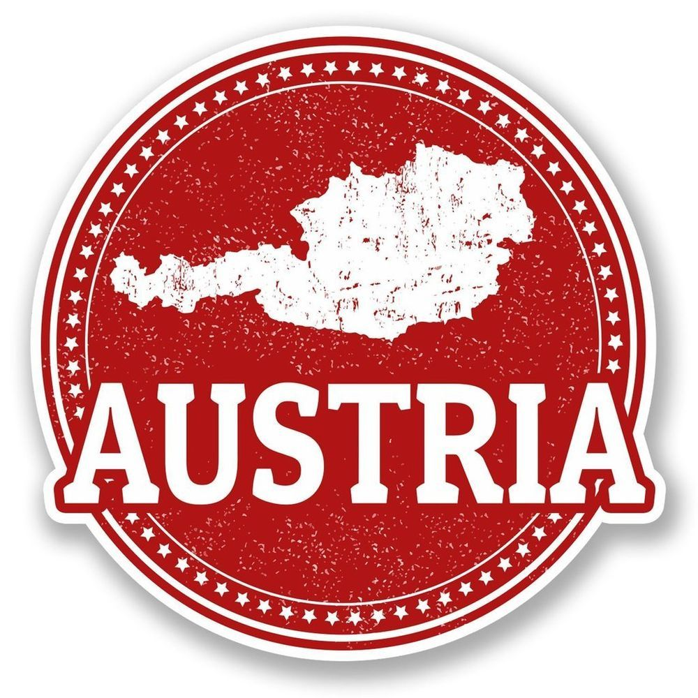 Details about 2 x Austria Vinyl Sticker Laptop Travel ...