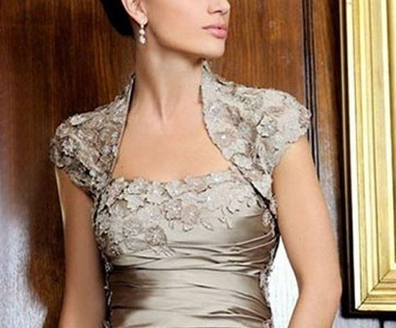 Deep champagne full body ruched mother of the bride by VEILDRESS, $104.00
