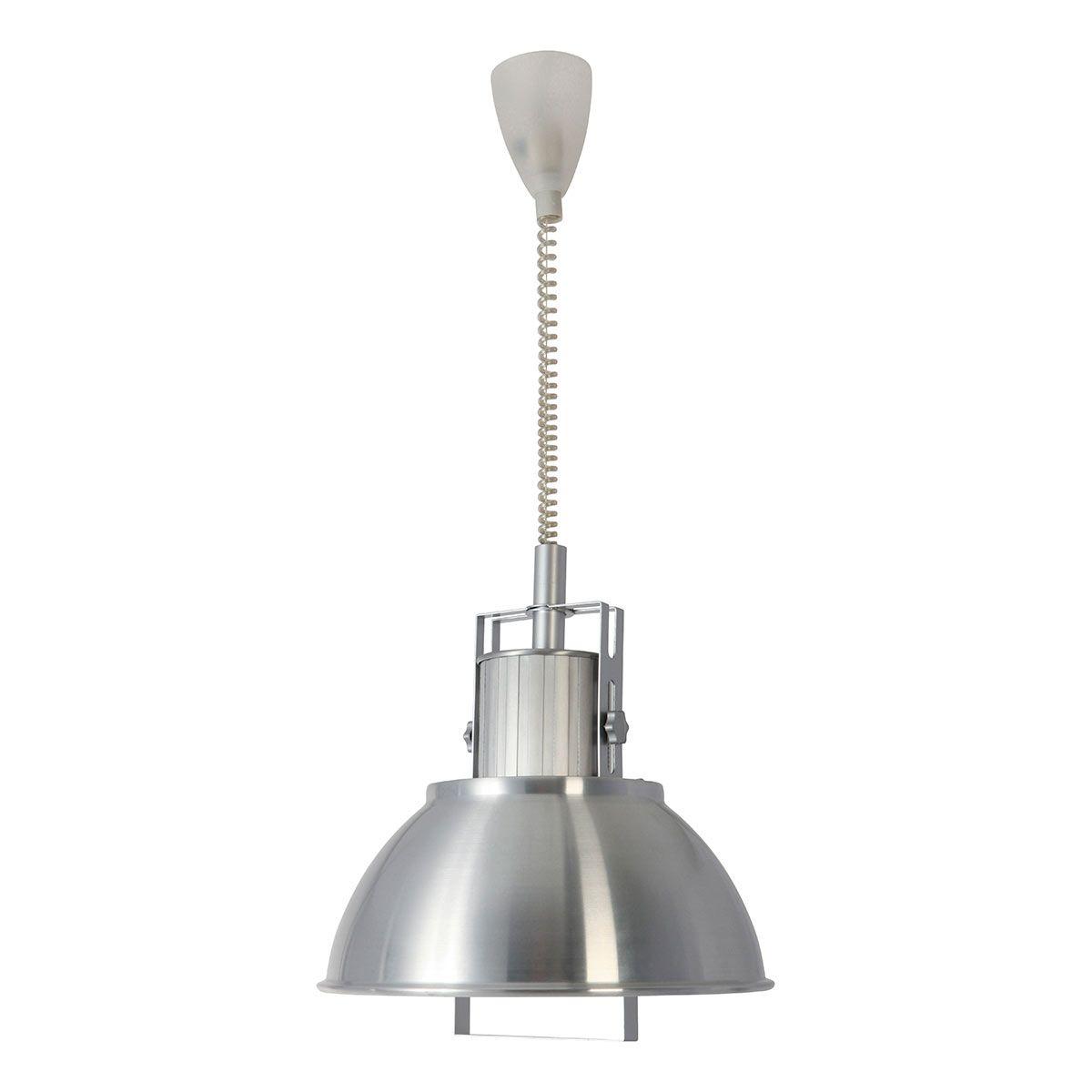 Rococo Hanglamp 7278ST Industriële hanglamp 7278 staal met ...