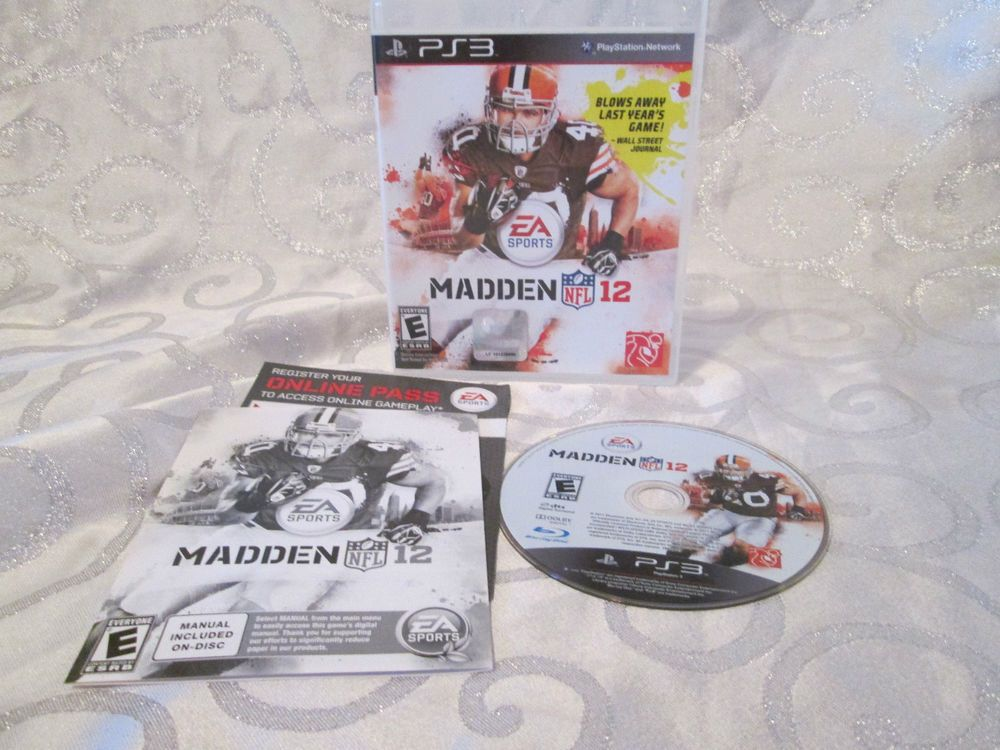 ps3 nfl madden 12 game with manual code rated e for everyone rh pinterest com Madden 17 EA Sports Rosters EA Sports Madden Tournament