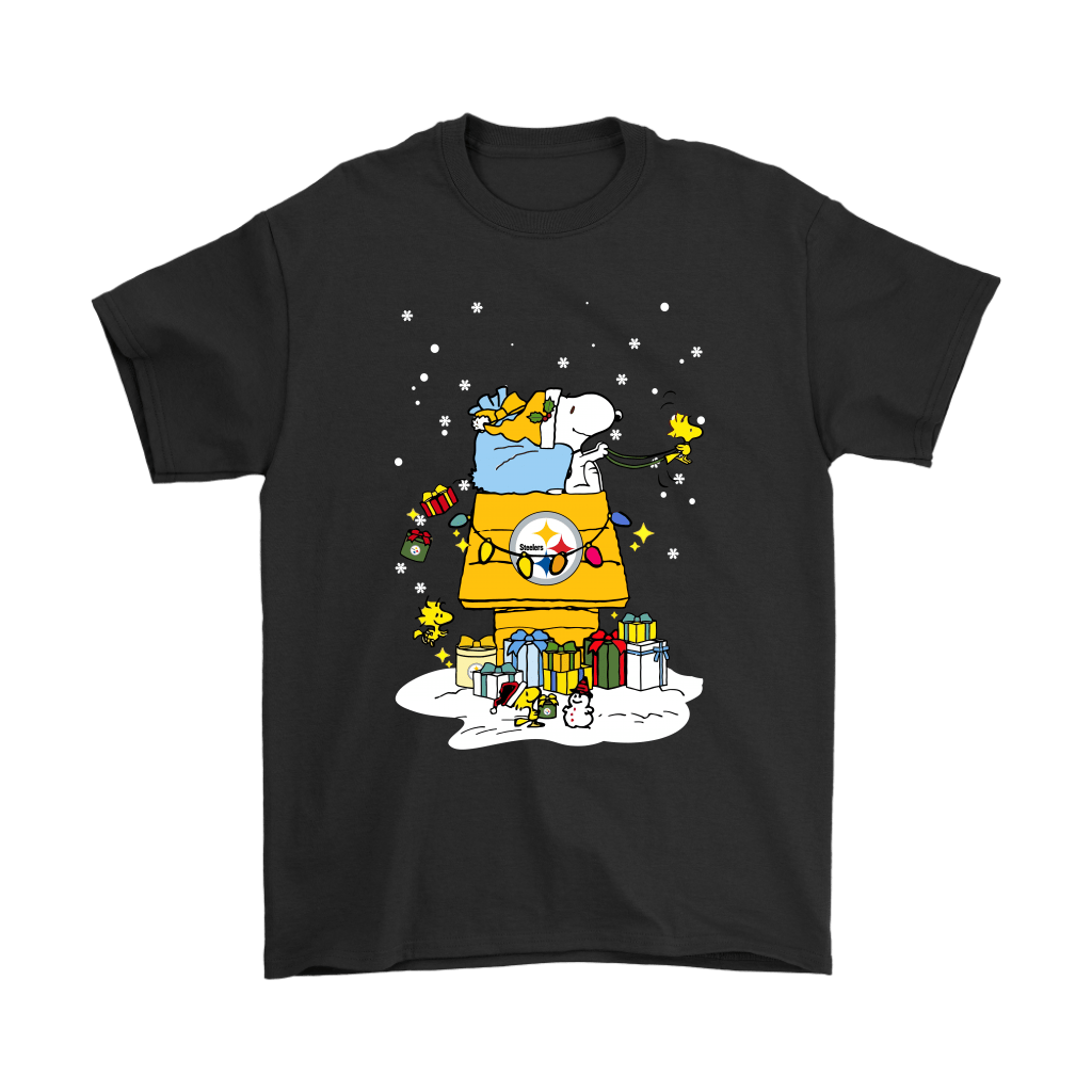 Pittsburgh Steelers Santa Snoopy Brings Christmas To Town Shirts - Geek Tarven   Christmas Snoopy s