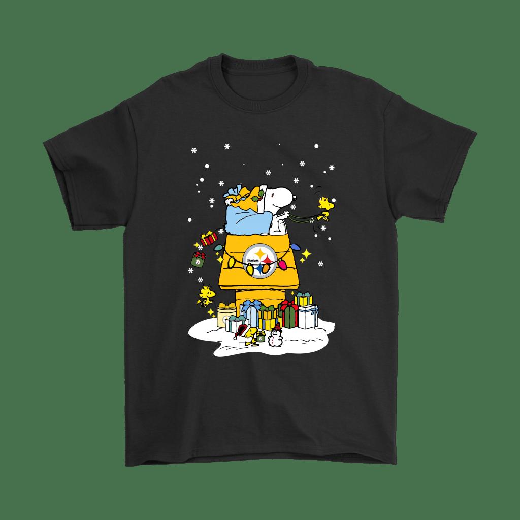 Pittsburgh Steelers Santa Snoopy Brings Christmas To Town Shirts - Geek Tarven  Christmas Snoopy s