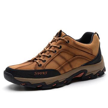 men genuine leather outdoor slip resistant casual newchic