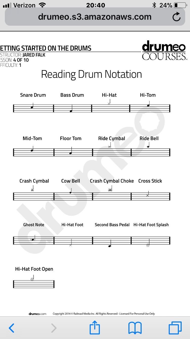 Pin by brooke on health drum and bass sheet music