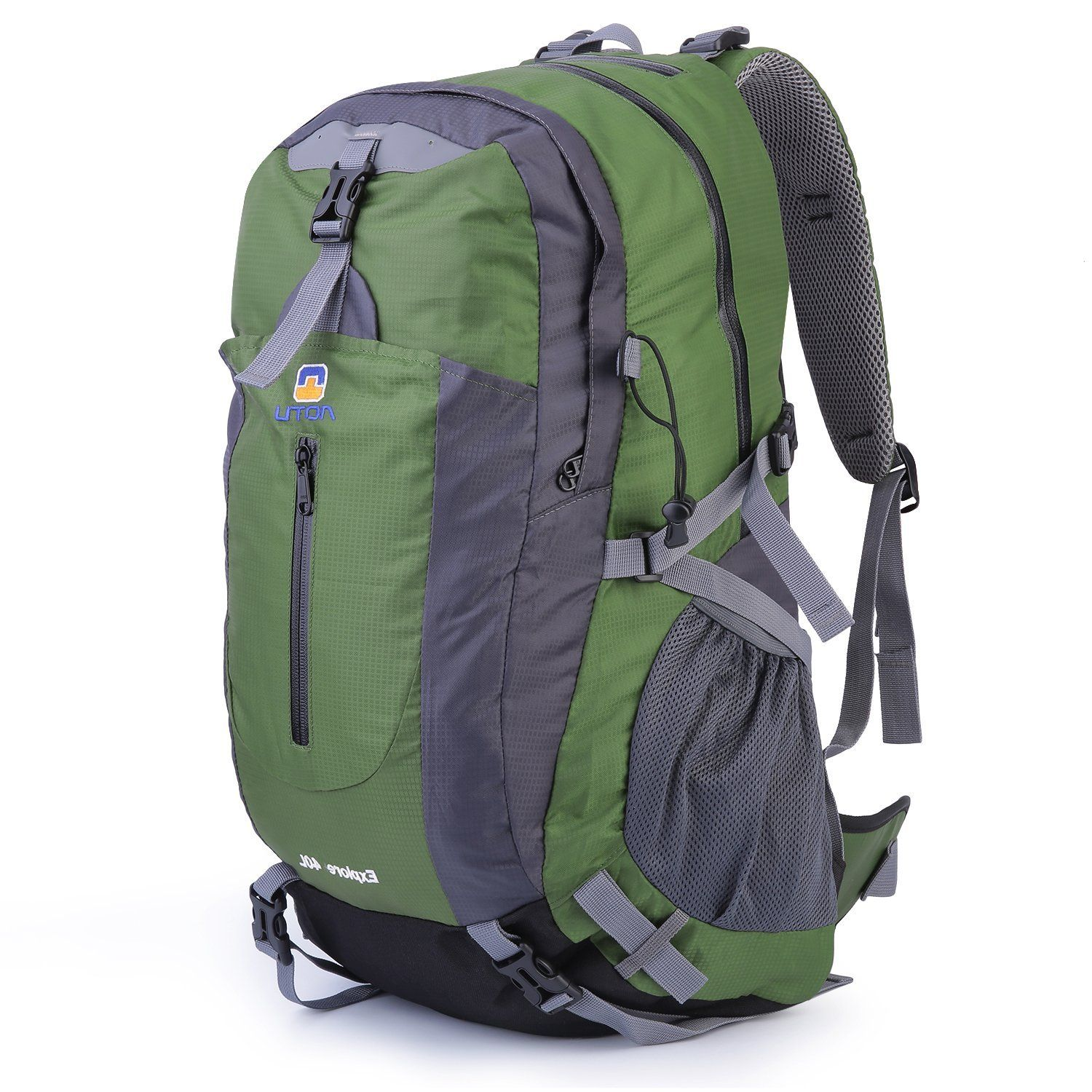 40L Camping Backpack Waterproof Ultralight Army Green Color Internal Frame New
