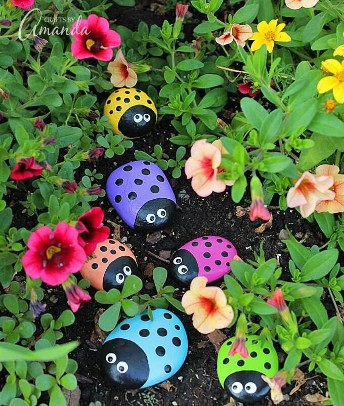 Nice Pinterest Garden Craft Ideas Part - 6: Learn To Make These Adorable Ladybug Painted Rocks. Use Special Outdoor  Paint For This Adorable Garden Craft So You Can Keep Garden Ladybugs All  Summer!