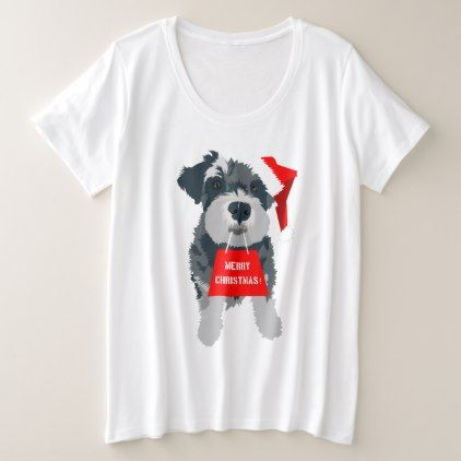 9ea93573 Christmas Schnauzer Dog Santa Hat T-Shirt - fun gifts funny diy customize  personal
