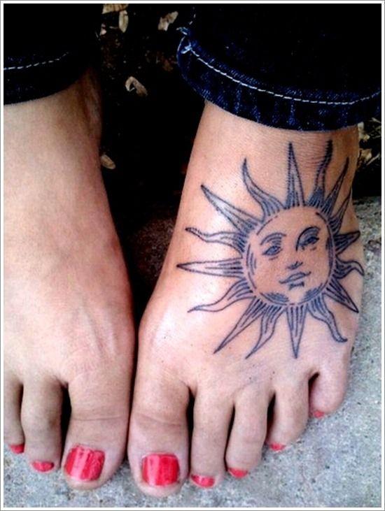sun foot tattoo: Sun foot tattoo ink pinterest tattoo piercings and tatting