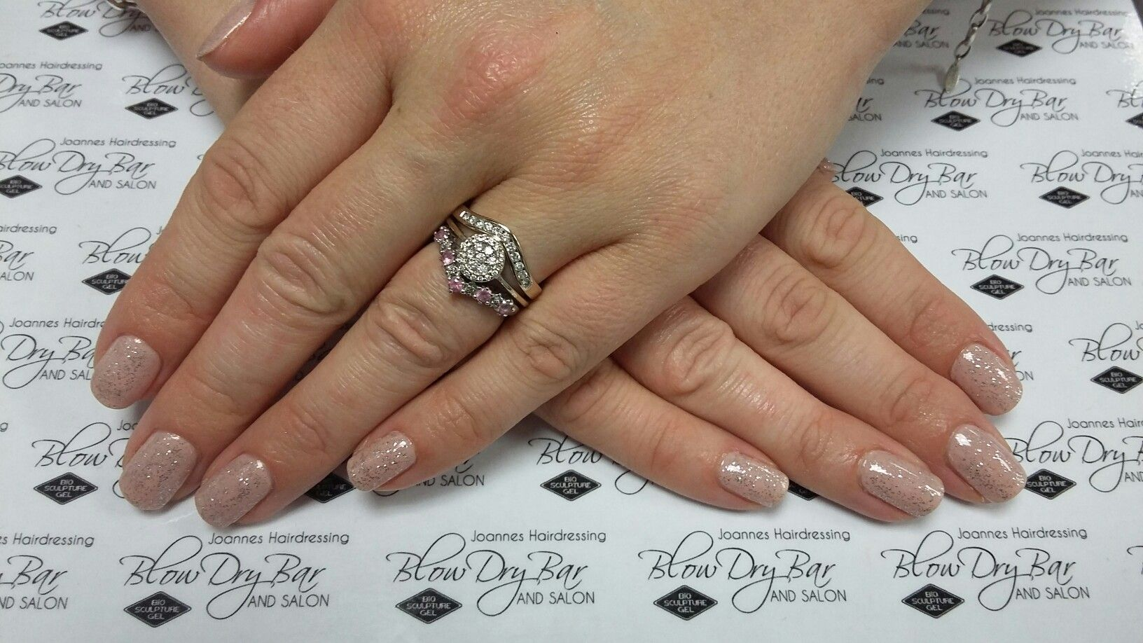 biosculpture gel overlay on natural nails 2093 ivorybeige with