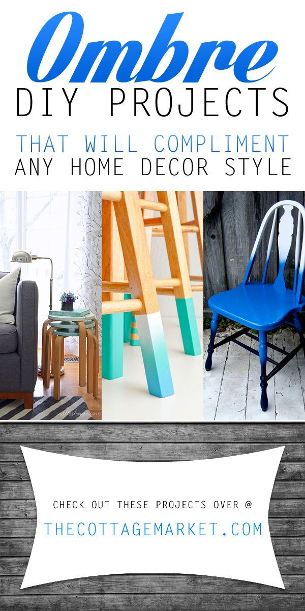 diy furniture refinishing projects. Ombre DIY Projects That Will Compliment Any Home Decor Style. Furniture RefinishingDiy Diy Refinishing