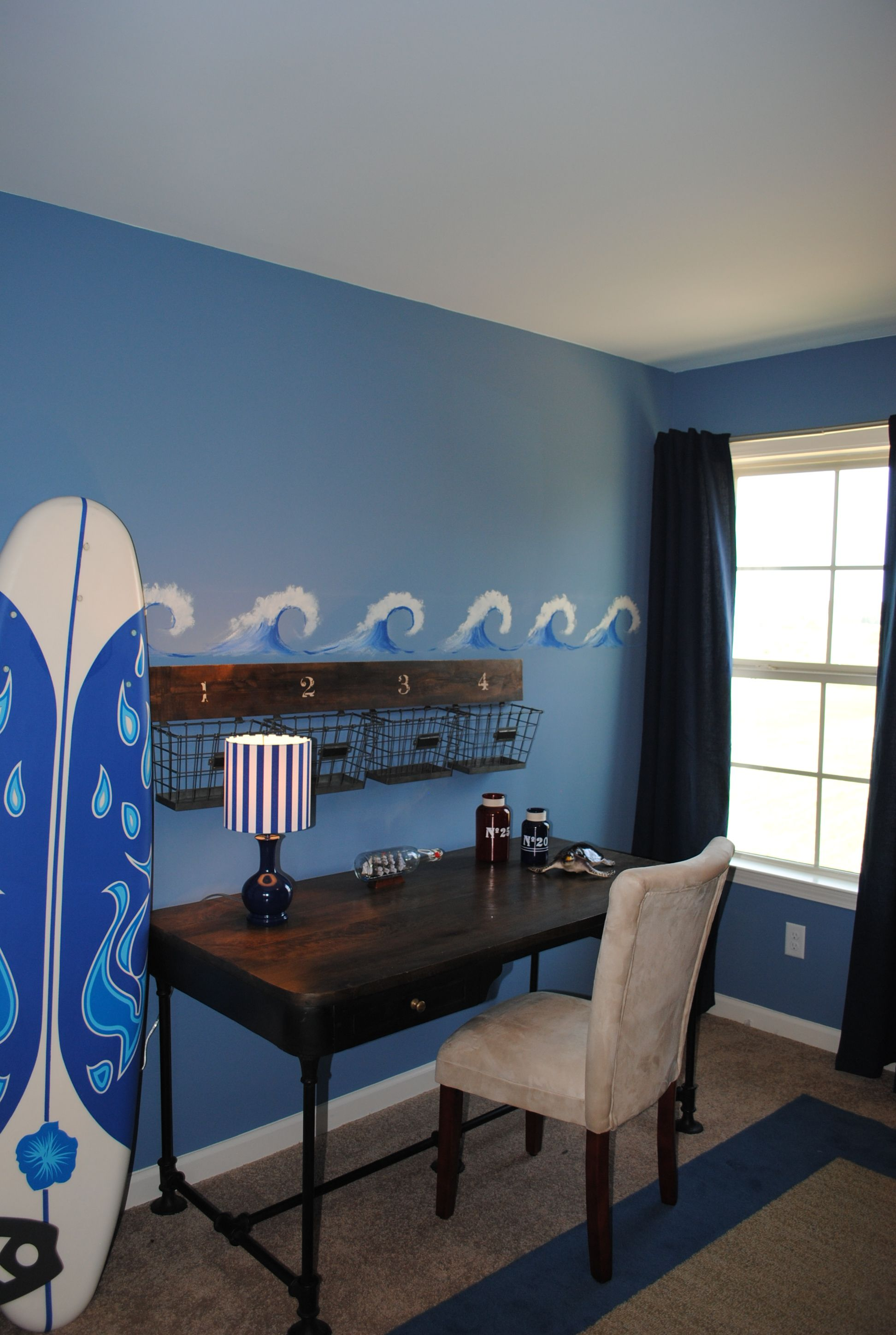 Teen Ocean Themed Bedroom: Surfing Theme In Boys Bedroom