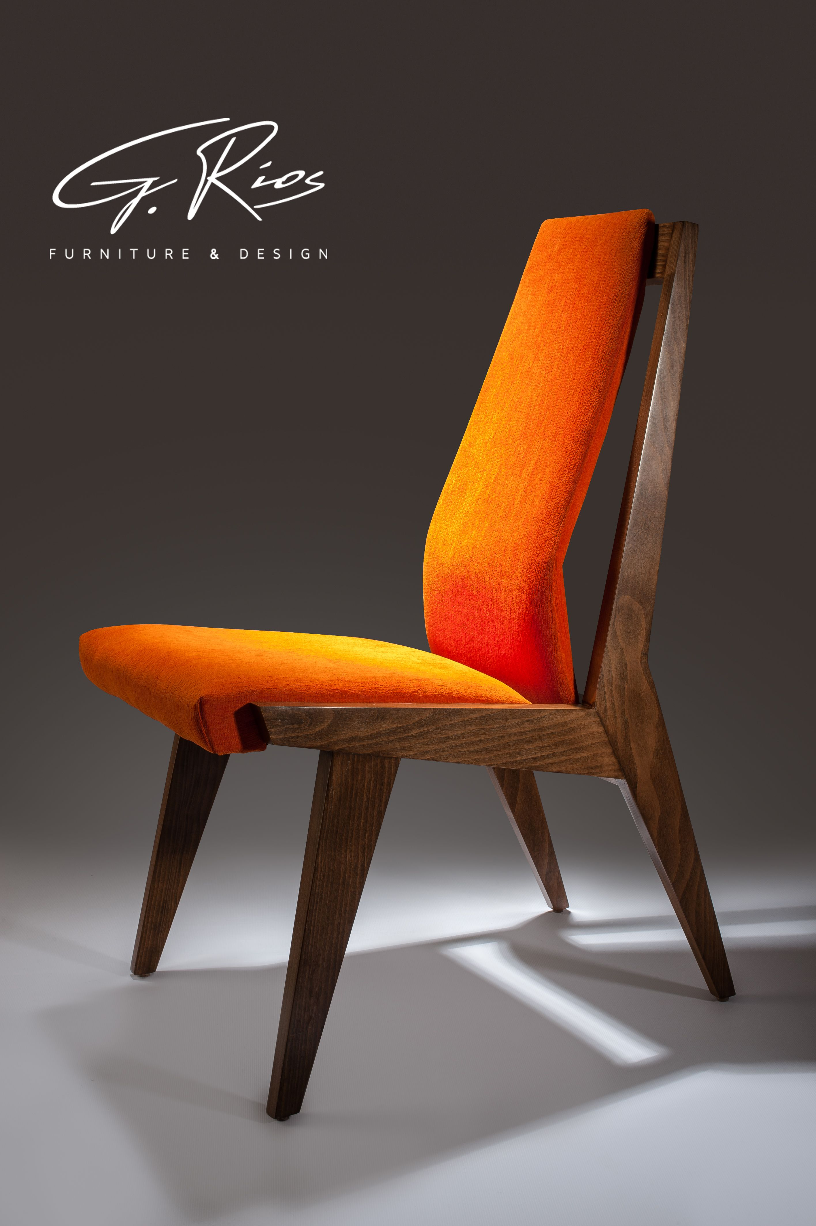 GEOMETRIC DINING CHAIR. Angular, with adjustable backrest ...