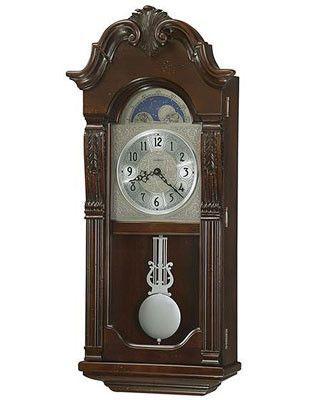 Howard Miller Norristown Chiming Pendulum Wall Clock Fixed Blue Moon Phase Howard Miller Wall Clock Pendulum Wall Clock Chiming Wall Clocks