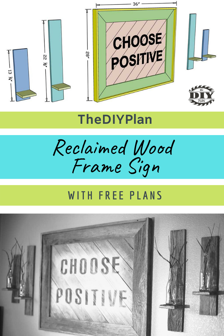 Reclaimed Wood Frame Sign Thediyplan In 2020 Wood Frame Sign Reclaimed Wood Frames Old Fence Wood