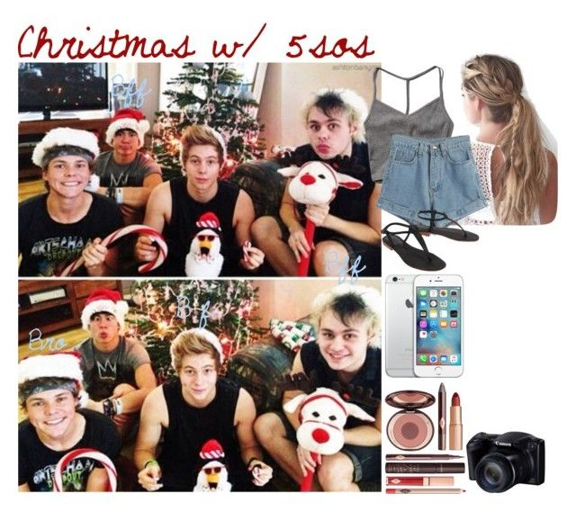 """""""Christmas w/ 5sos / / Adelaide"""" by band-tips-and-icons ❤ liked on Polyvore featuring Abercrombie & Fitch, WithChic, Charlotte Tilbury and Cocobelle"""
