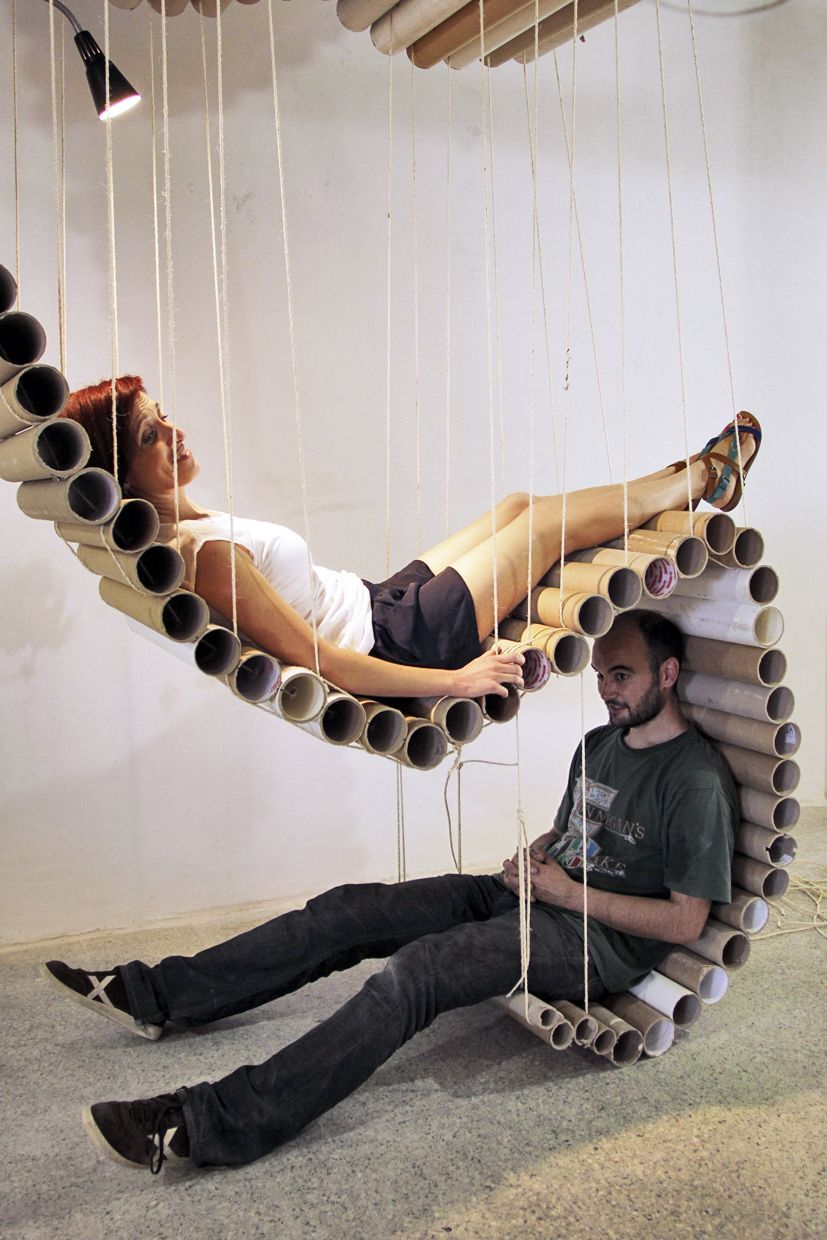 Usefull spaces created out of cardboard! Last event from Transfo ...