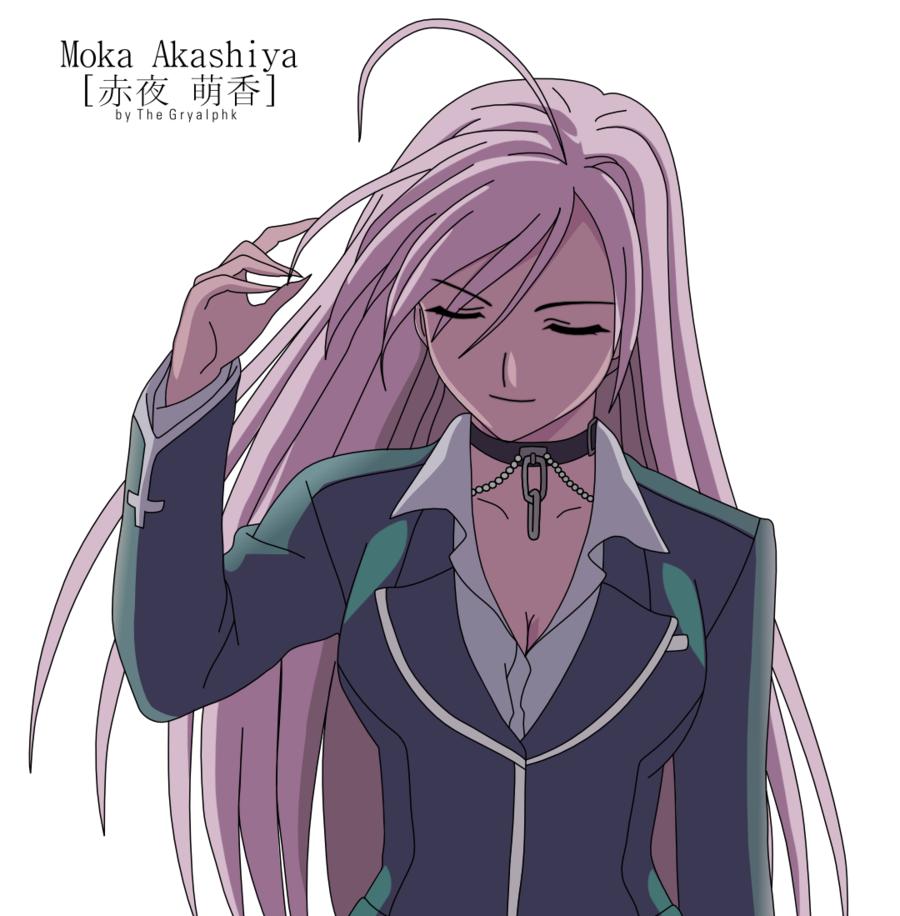 Akashiya Moka By Gryalphk Png 900 916 Rosario Vampire Rosario Vampire Moka Rosario Vampire Anime