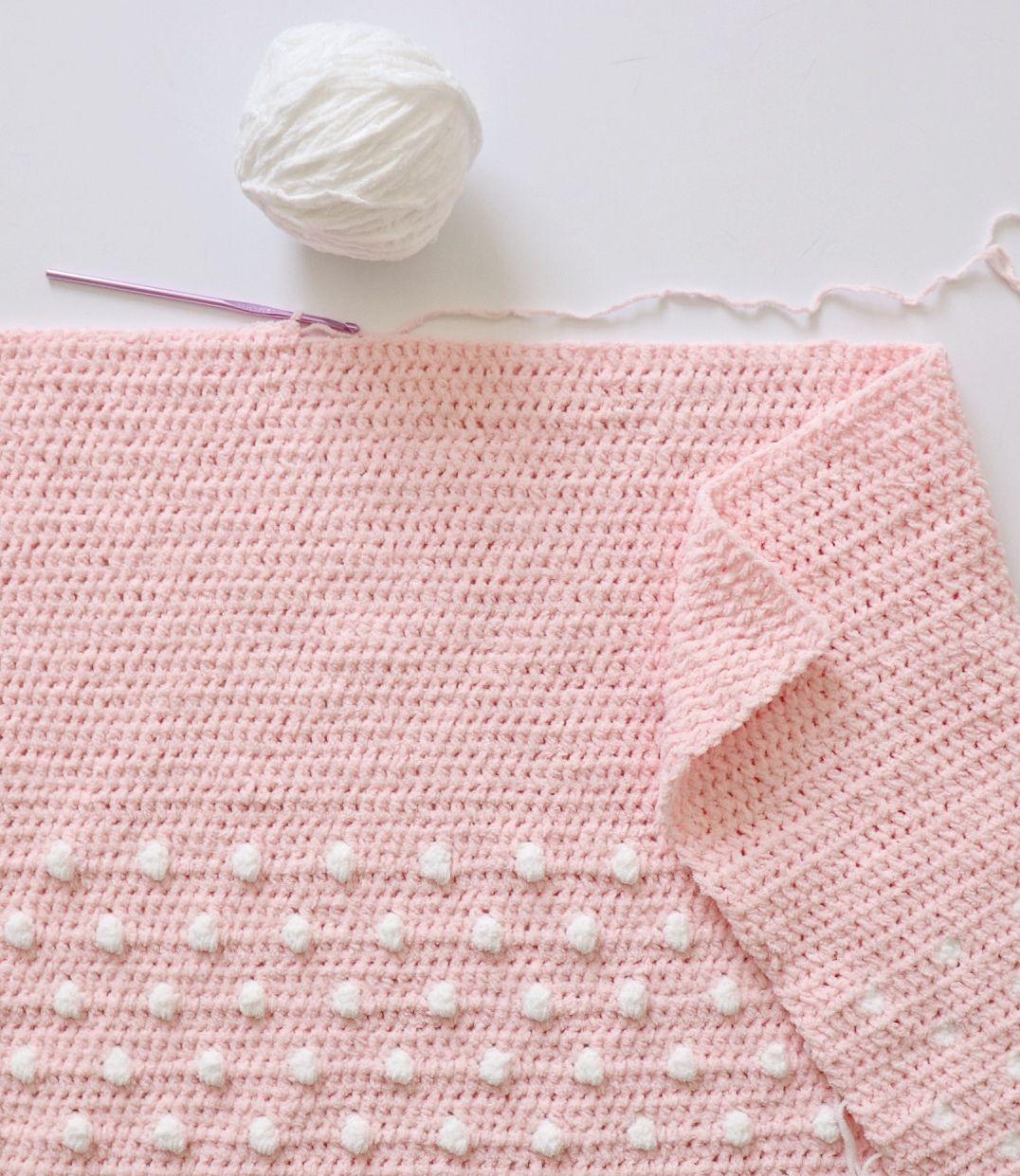 1480febc5220e Crochet Polka Dot Ends Blanket   Daisy Farm Crafts   Crochet baby ...