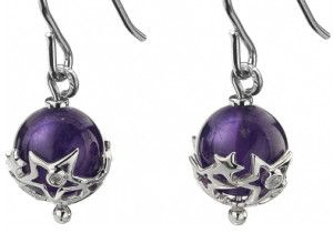 Just Add Love Orb Amethyst Earrings, include the Birthstone for February  http://mother-gifts.net/birthstones-and-gemstone-jewellery