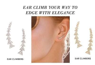 Stella and Dot Ear Climber Earrings Gold