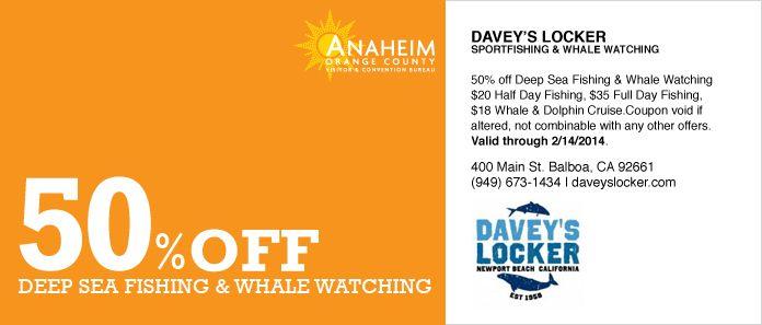 50 Off Davey S Locker Deep Sea Fishing Sport Fishing Whale Watching