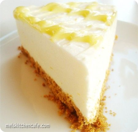 No-bake Lemon Cheesecake.  (but will have to use the fake stuff)