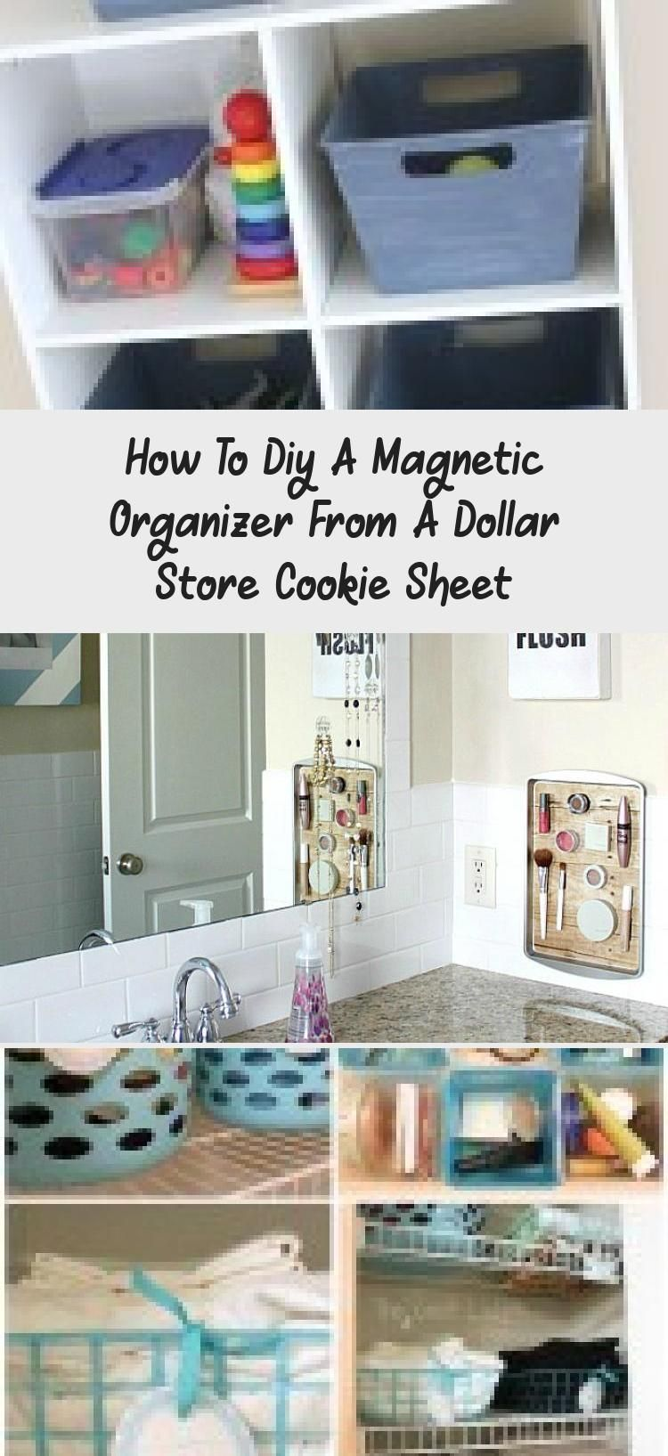 Transform a simple Dollar Store cookie sheet into a handy