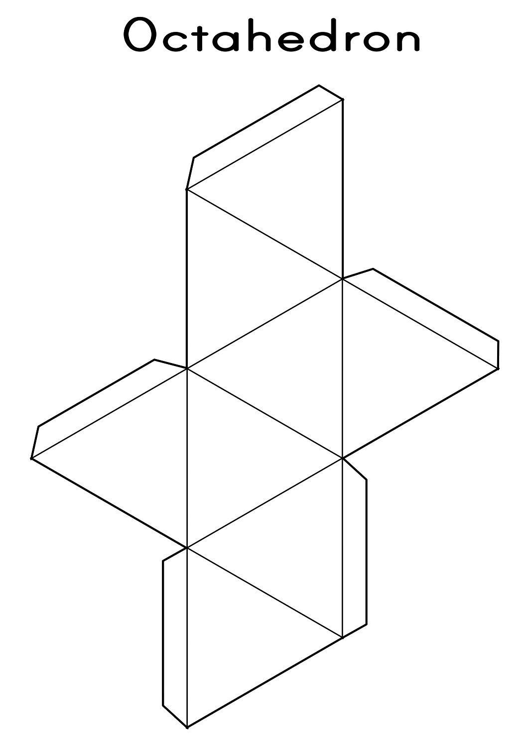 Shape Nets Printable 3d Geometry Octahedron