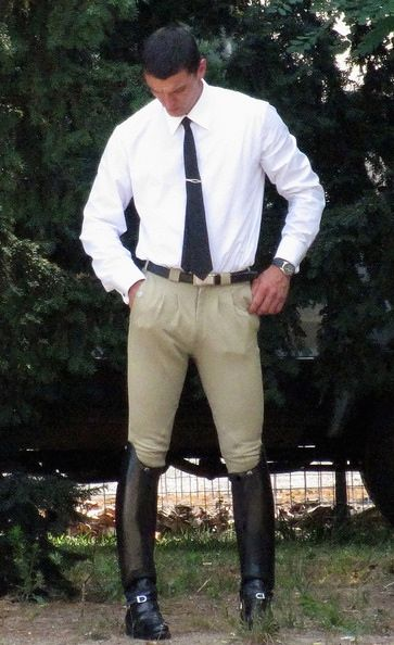 Checking Himself Out Men In Tall Boots GC