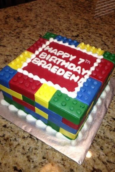 Amazing Simple Lego Cake Lego Birthday Cake Boy Birthday Cake Funny Birthday Cards Online Elaedamsfinfo