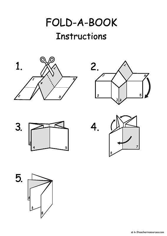 Book Folding Template Printable  Diy Woodland Animals