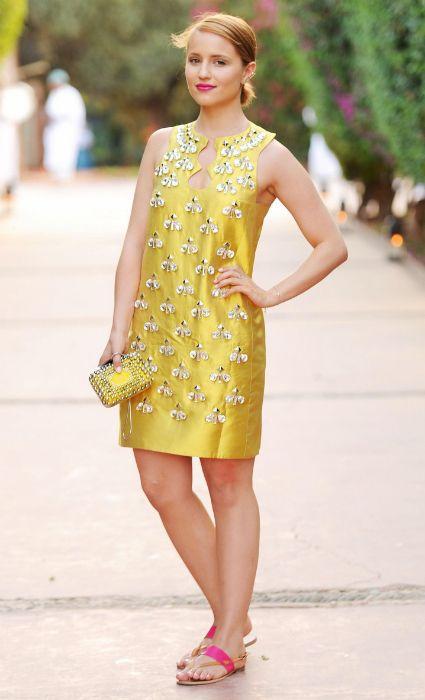 Dianna agron vestido