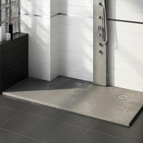 Plato de ducha slate con corte especial para pilar for Banos pequenos con plato de ducha