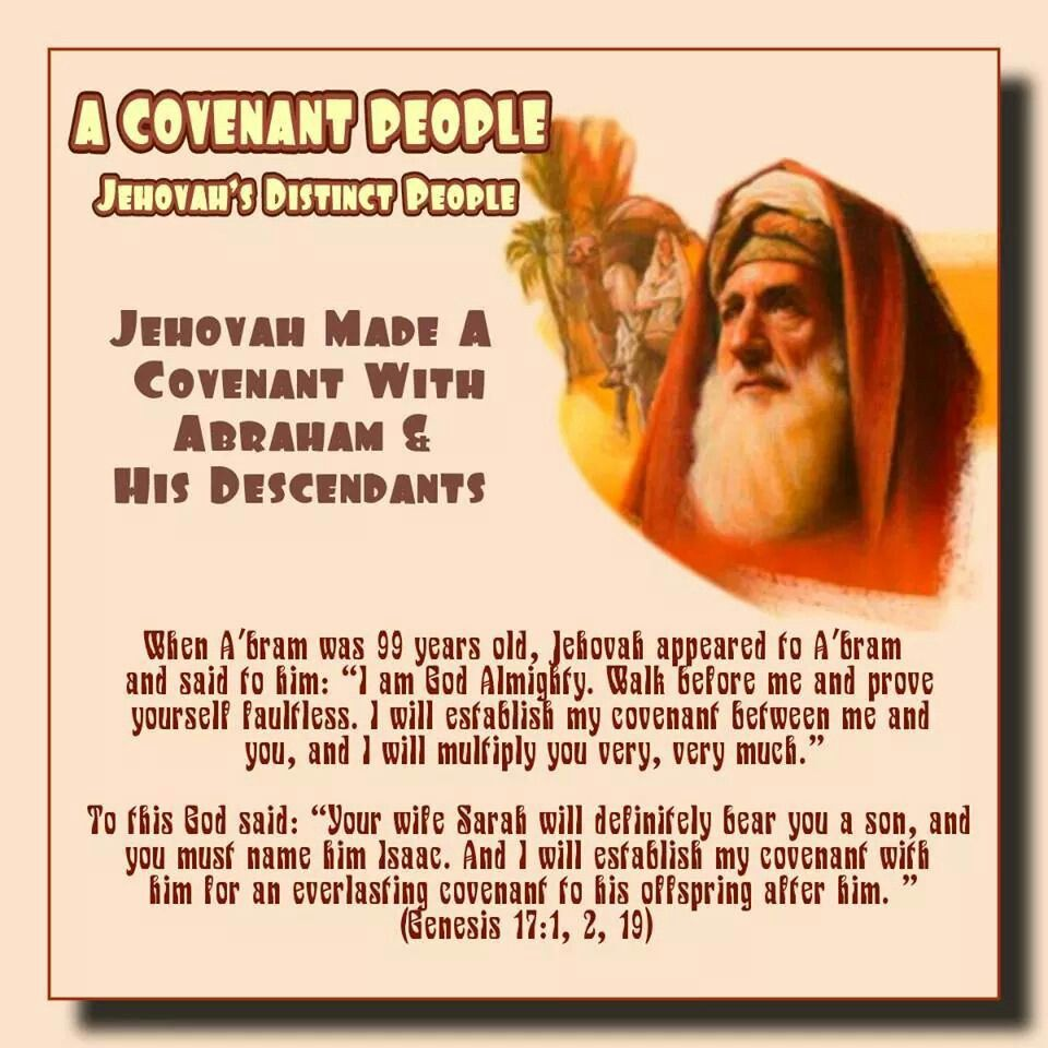 Image result for Jehovah's covenant with Abraham and his descendants