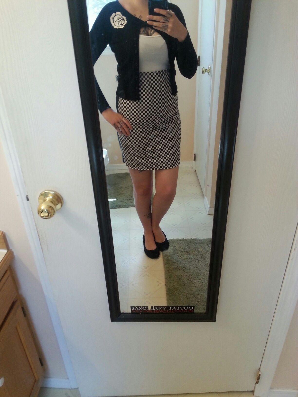Rude girl pencil skirt