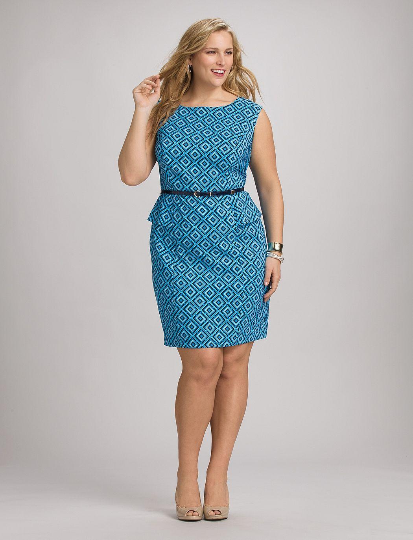 242d7281ebf Dressbarn geo print peplum dress. Find this Pin and more on Plus Size  Fashion ...