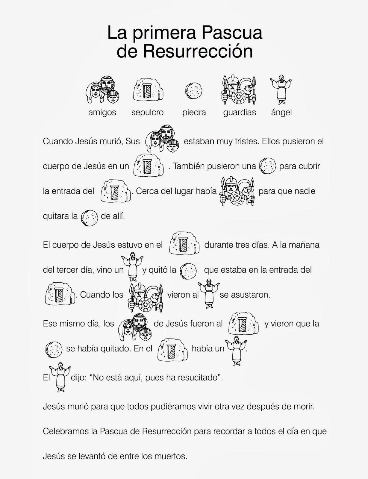 Muerte y resurrección de Jesús (niños) | Páginas Para Colorear ...