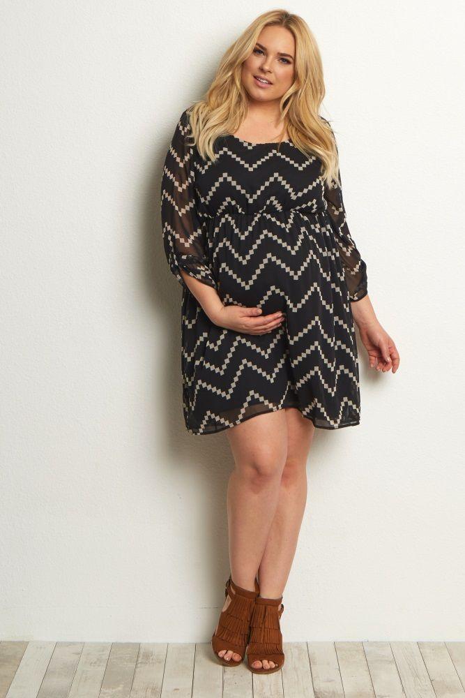Black Chevron Plus Maternity Dress Clothes Pinterest Maternity