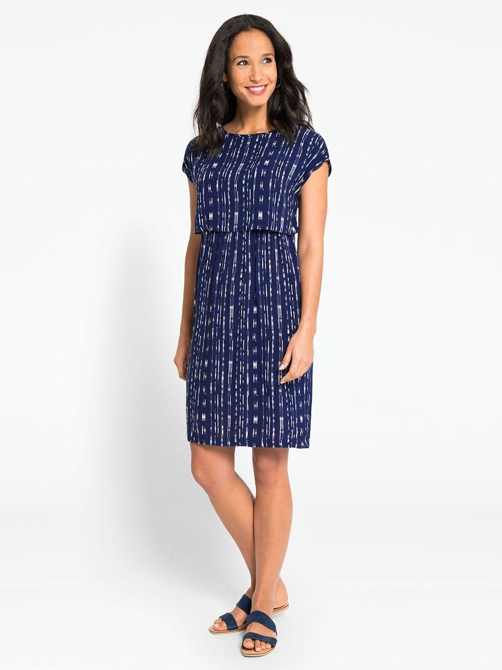 7f4bf57589529 Navy Maternity & Nursing Dress | Attire | Maternity nursing dress ...