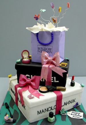 Pleasing Isnt This A Fun Cake For The Ultimate Shopper Colettes Funny Birthday Cards Online Benoljebrpdamsfinfo