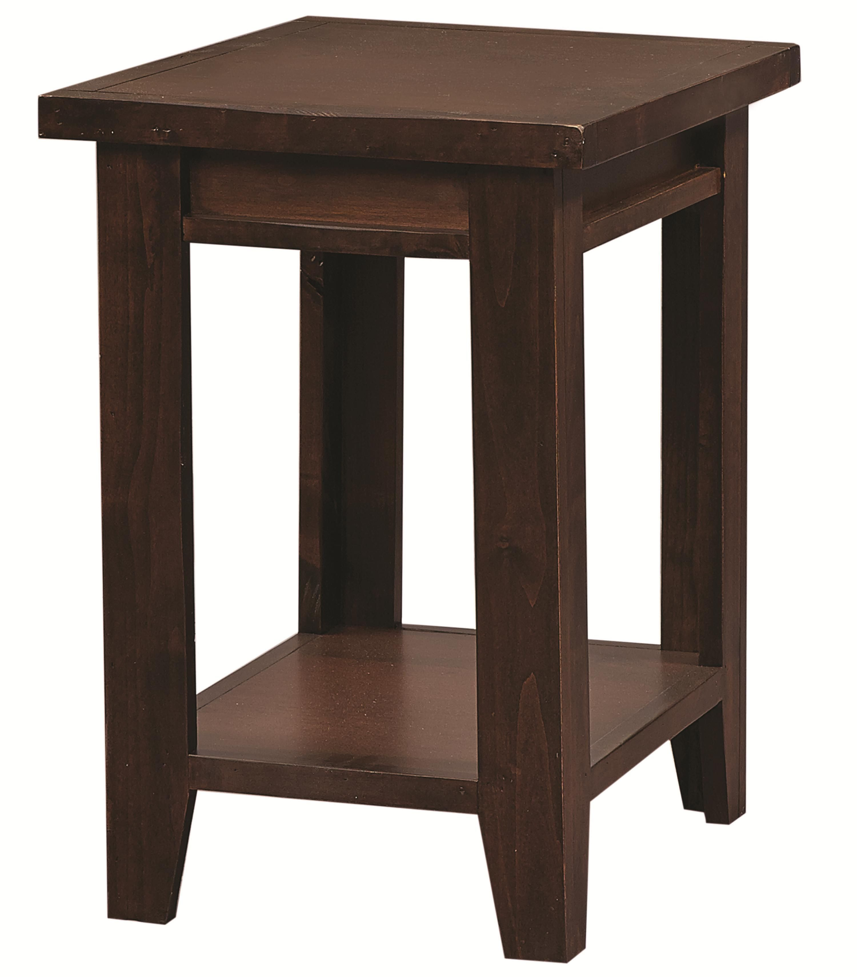 Alder grove chairside table with shelf by aspenhome family refresh