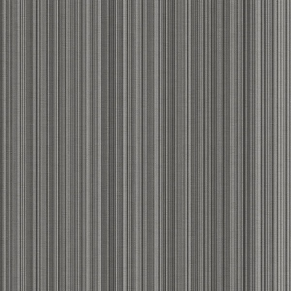 Silver grey black stria stripe wallpaper modern striped for Gray vinyl wallpaper