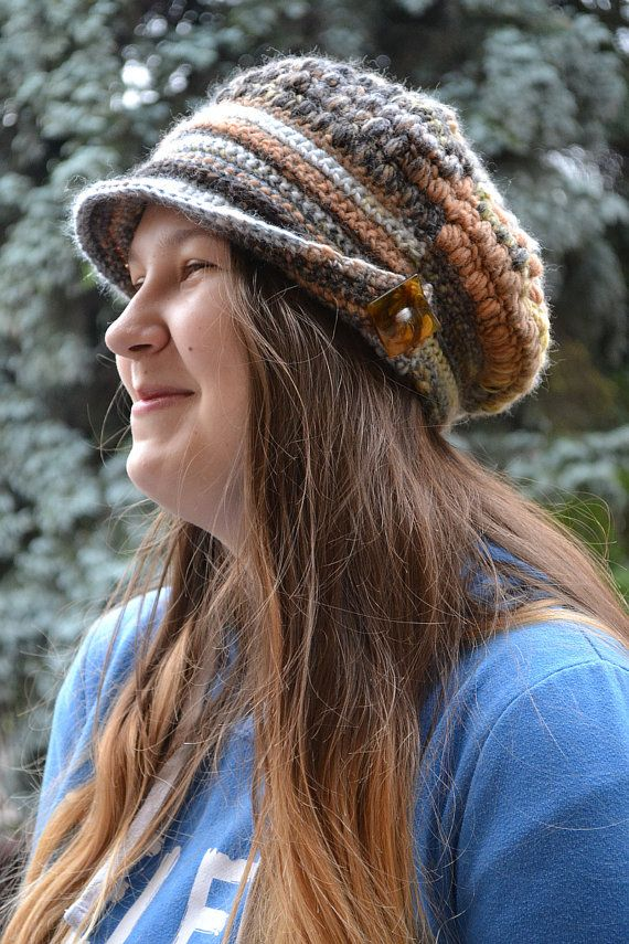 Womens Crochet Hat, Women Hat, Newsboy Hat, Spring newsboy cap ...