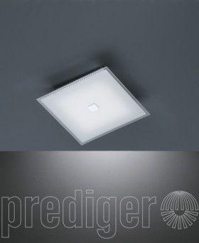 Fesselnd Böhmer Deckenleuchten LED Eckig Titan Silber