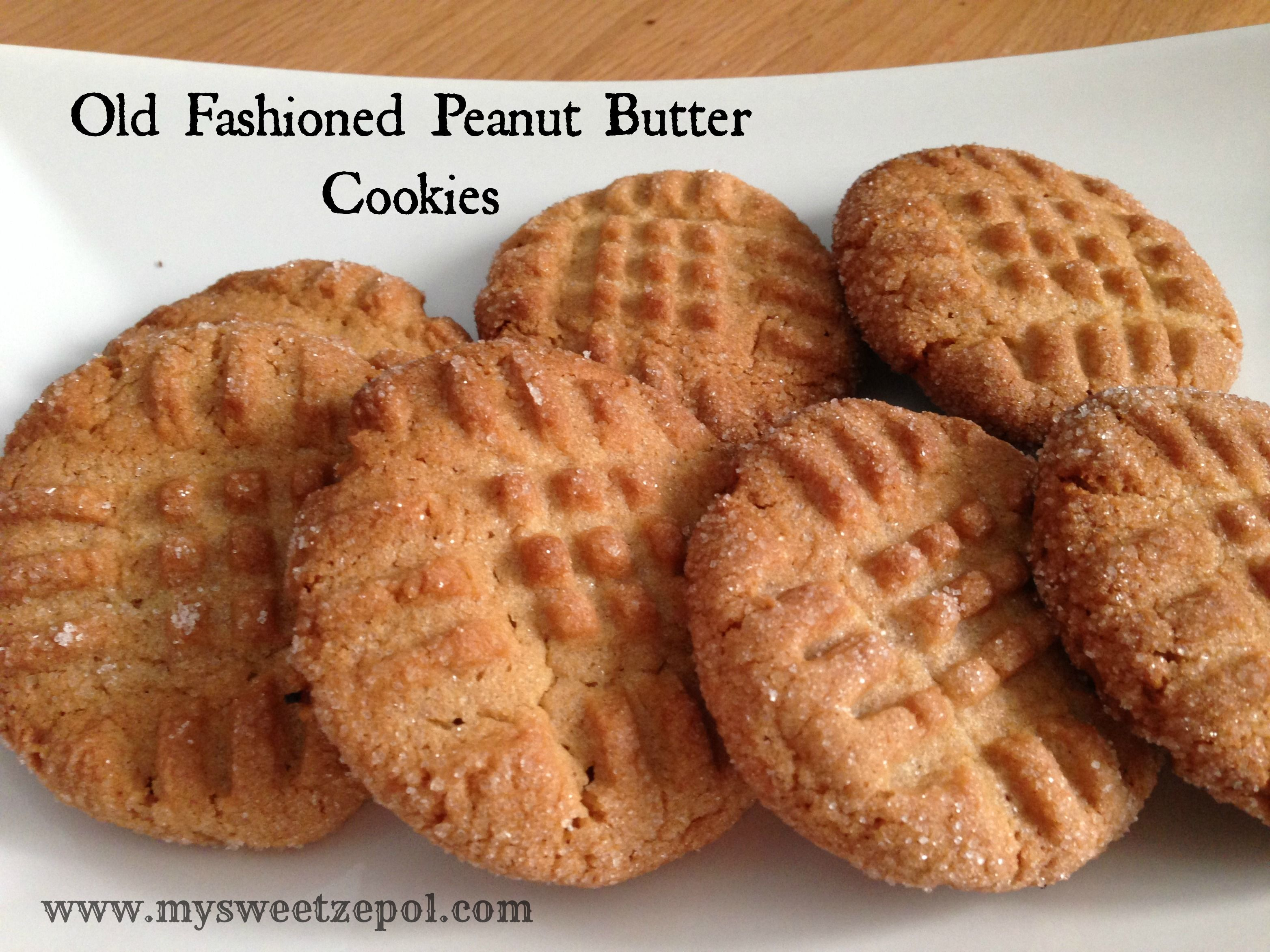 My Sweet Zepol » Old Fashioned Peanut Butter Cookies