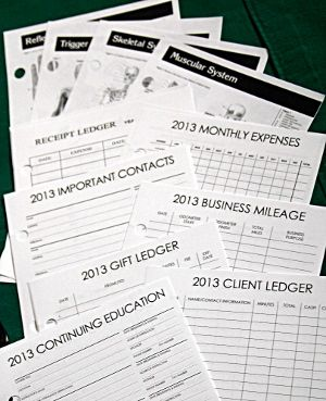 Massage Minder appointment book for massage therapists